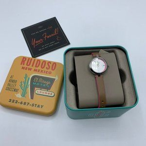 NEW Fossil Kerrigan Mini Brown Pink Leather Watch